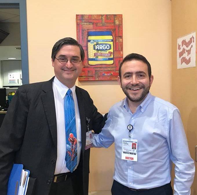 ENTRENAMIENTO DEL DR DAMIAN COHEN CON EL EQUIPO DE LA UNIVERSIDAD DE CONNECTICUT, USA