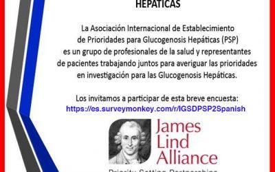 2da Encuesta para la Asociacion Internacional de Establecimiento de Prioridades para Glucogenosis Hepáticas