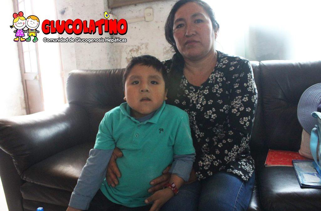 El pequeño Gerardo y su lucha diaria contra la enfermedad de la glucogenosis